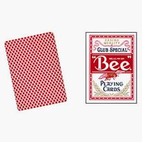 Bee Club Poker red