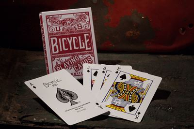 Bicycle Poker, Chainless -red